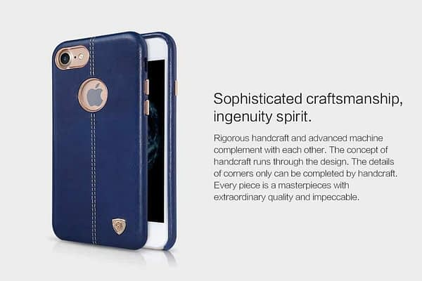 NILLKIN Englon Series Leather Back Luxury Case Cover for Apple Iphone 7 - Blue 9