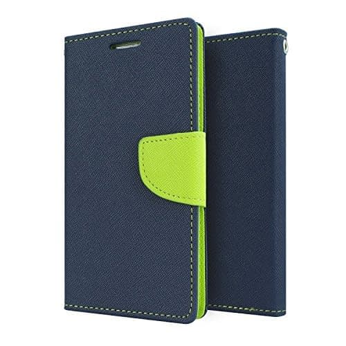 Mercury Goospery Fancy Diary Wallet Flip Case Cover for Lenovo A6000 / A6000 Plus - Blue/Green 1