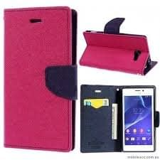 Mercury Flip Cover For LENOVO A7000 / K3 NOTE / A7000 TURBO PINK BLUE - By KPH 3