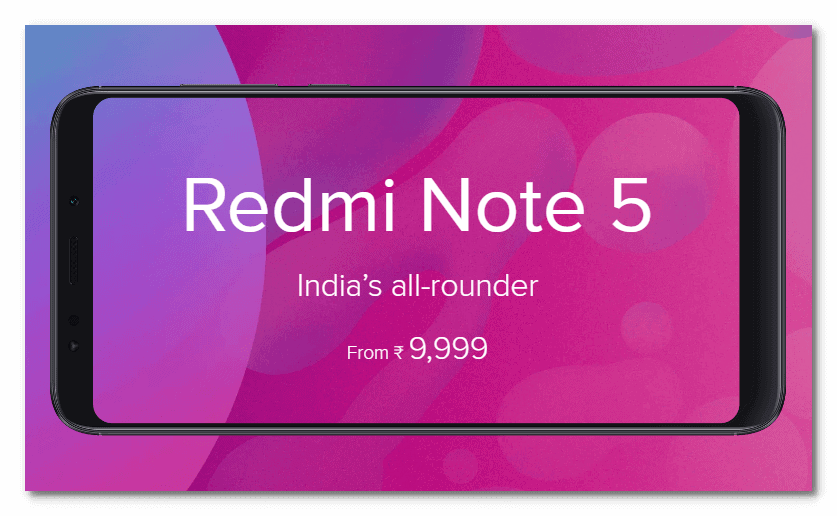 Xiaomi Redmi Note 5 Launched in India with Amazing Specification & Unbelievable Price 2