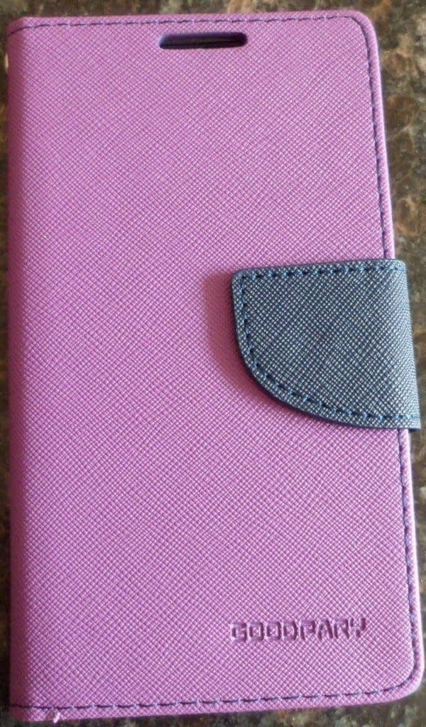 DW Mercury Fancy Diary CARD Wallet Flip Case Back Cover for Micromax Canvas Silver 5 Q450 ( Purple ) 1