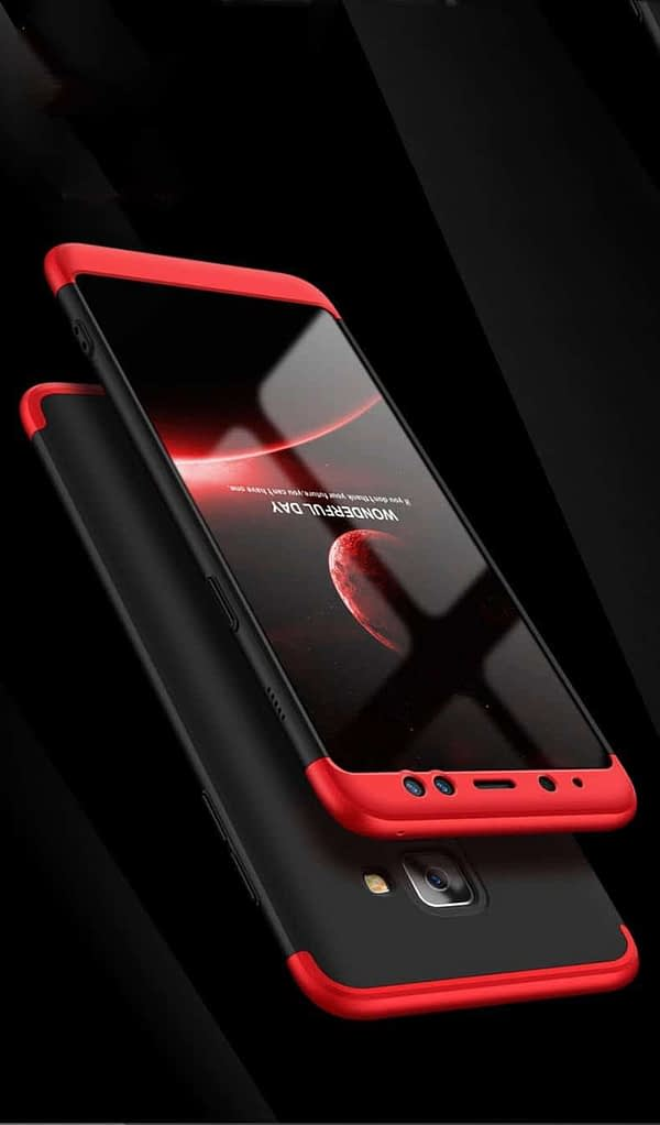 Royal Star Luxury Design Full Body 3-in-1 Slim Fit Complete 360 Degree Protection Hybrid Matte Finish Hard Bumper Back Cover Case for Samsung A8 Plus 5