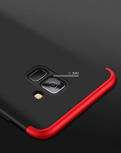 Royal Star Luxury Design Full Body 3-in-1 Slim Fit Complete 360 Degree Protection Hybrid Matte Finish Hard Bumper Back Cover Case for Samsung A8 Plus 6
