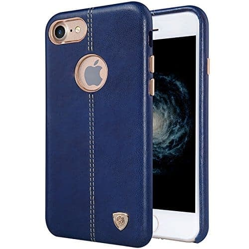 NILLKIN Englon Series Leather Back Luxury Case Cover for Apple Iphone 7 - Blue 1