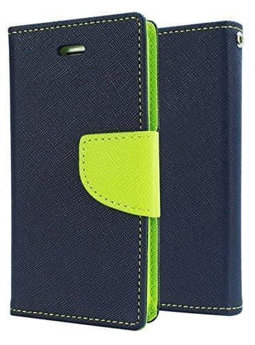 J.N. Mercury Fancy Diary Wallet Flip Case Back Cover for Nokia Lumia 520 - Blue Green 1