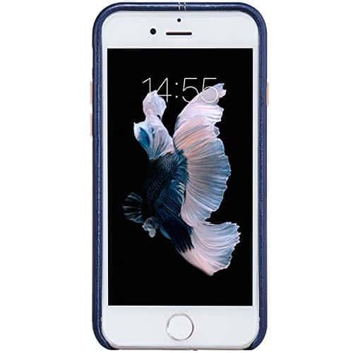 NILLKIN Englon Series Leather Back Luxury Case Cover for Apple Iphone 7 - Blue 4