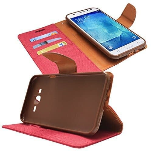 DW Canvas Dairy Mercury Fancy Diary CARD Wallet Flip Case Back Cover for Samsung Galaxy Grand i9082 / Grand Neo i9060 ( Red ) 1