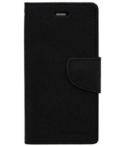 DW Mercury Fancy Diary CARD Wallet Flip Case Back Cover for Samsung Galaxy S6 Edge ( Black ) 1