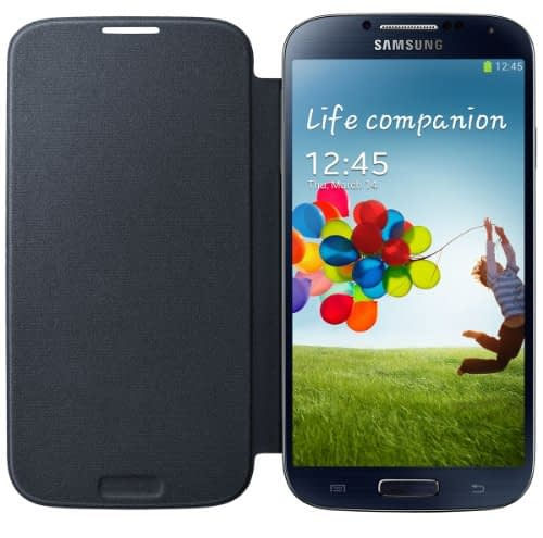 Samsung Flip Cover for Galaxy S4 (Blue Black) 1