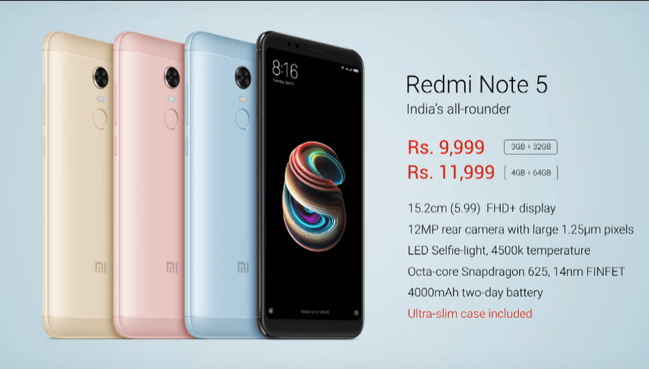 Xiaomi Redmi Note 5 Launched in India with Amazing Specification & Unbelievable Price 3