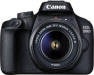 Canon EOS 3000D DSLR Camera Single Kit with 18-55 lens (16 GB Memory Card & Carry Case) Canon