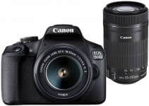 Canon EOS 1500D DSLR Camera Body Dual kit with EF-S 18-55 IS II + 55-250 IS II lens (16 GB Memory Card & Carry Case ) Canon
