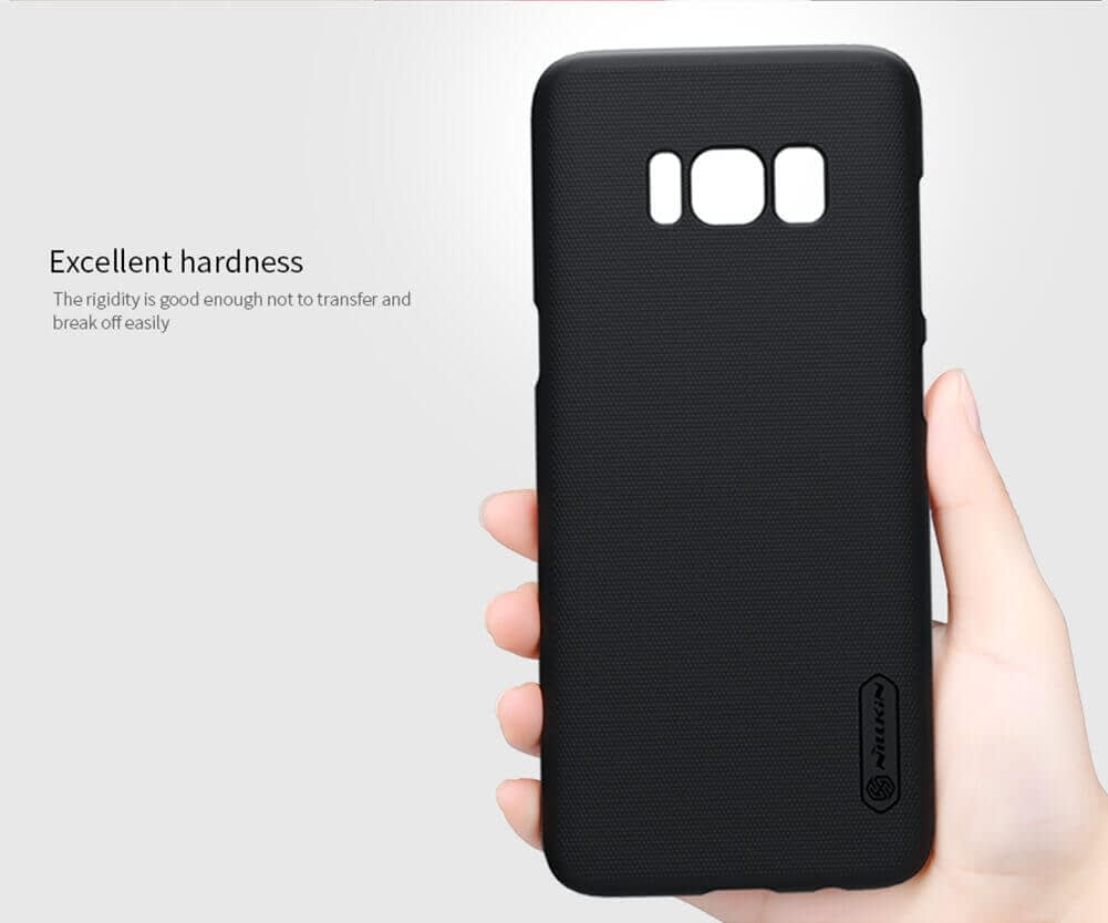 Nillkin Super Frosted Shield Slim Fit Back Case Cover For Samsung Galaxy S8 Plus With Nillkin Screen Protector - Black 2
