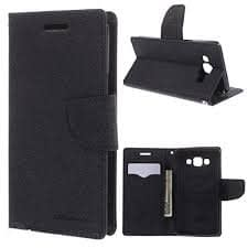Mercury Diary Wallet Style Flip Cover Case for Xiaomi Redmi Note / Redmi Note Prime BLACK - By KPH 1