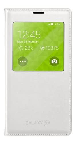 Samsung Galaxy S5 S-View Cover (White) EF-CG900BW 1
