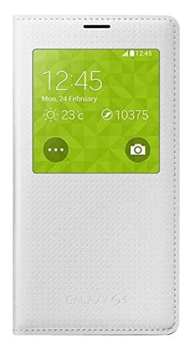 Samsung Galaxy S5 S view Flip Cover Perforated White EF-CG900BHEGIN 1