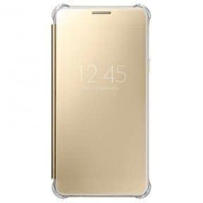 Samsung Galaxy A5 (6) 2016 Clear View Flip Cover EF-ZA510CFEGIN - Gold 1