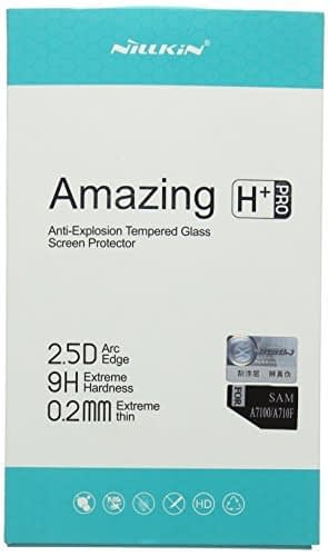 Nillkin ( for Samsung Galaxy A7 (6) 2016 A710 ) Amazing H+ Pro 2.5D Arc Edge (0.2mm Extra Thin) 9H Hardness Anti-Explosion Tempered Glass Screen Protector for Samsung Galaxy A7 (6) 2016 New Edition 1