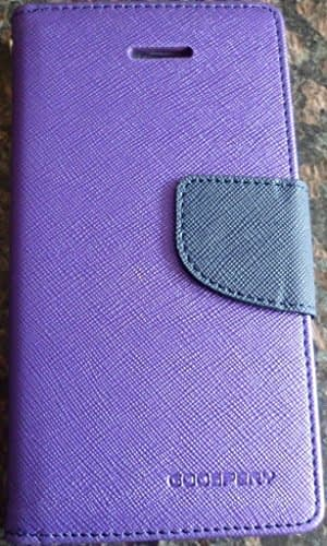 DW Mercury Fancy Diary CARD Wallet Flip Case Back Cover for Samsung Galaxy Grand Prime G530 / G531 ( Purple ) 1