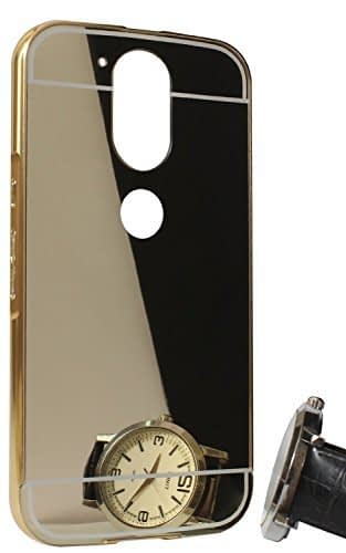 factory authentic 832fe e4cd2 Royal Star Luxury Metal Bumper + Acrylic Mirror Back Cover Case For  Motorola Moto G4 Plus / G4 (4th Generation)(Gold Mirror)
