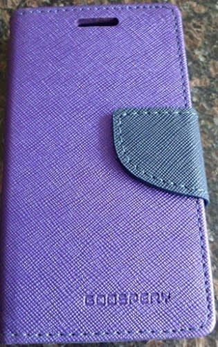 DW Mercury Fancy Diary CARD Wallet Flip Case Back Cover for Nokia Lumia 520 ( Purple ) 1