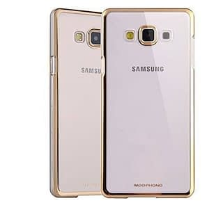 brand new f3d79 e068d Meephone Transparent Hard Plastic Back Cover Case for Samsung Galaxy J7 (6)  2016 ( Gold Lining )