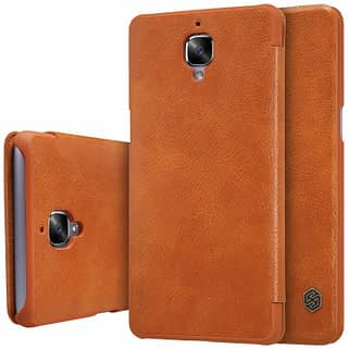 promo code 9b2f3 10900 Nillkin Qin Series Royal Leather Flip Case Cover Case For Oneplus 3
