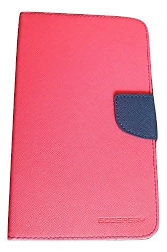 DW Mercury Fancy Diary CARD Wallet Flip Case Back Cover for Samsung Galaxy Tab 3 7inch P3200 - Pink 1