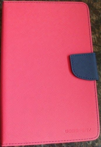 DW Mercury Fancy Diary CARD Wallet Flip Case Back Cover for Samsung Galaxy Tab 2 P3100 7inch - Pink 1
