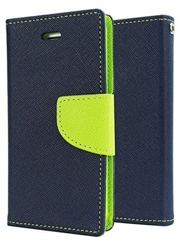 J.N. Mercury Fancy Diary Wallet Style Flip Cover Case for Micromax Canvas Spark Q380 (Blue Green) 1