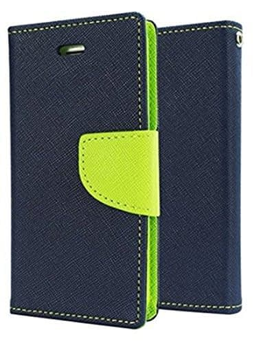 Mercury ( For Xiaomi Redmi 3S Prime ) Goospery Fancy Diary CARD Wallet Flip Case Back Cover for Xiaomi Redmi 3S Prime with Finger Print Cut - Blue+Green 1