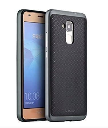 Original iPaky Ultra Slim Fit Dual Layer [ Black Soft TPU + Grey Hard PC ] Hybrid Bumper Protective Back Case Cover for Huawei Honor 5C ( Grey Bumper + Black Back ) 1