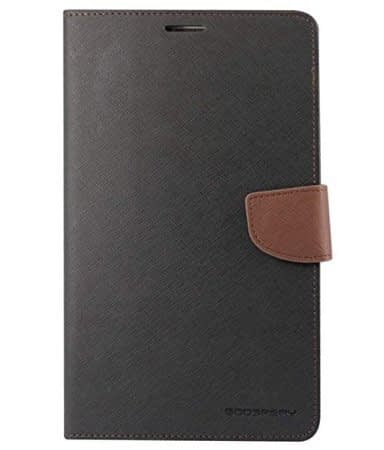 "KPH MOBILE Mercury Diary Wallet Style Flip Cover Case for SAMSUNG TAB 4 7"" T230 T231 BLACK BROWN 1"