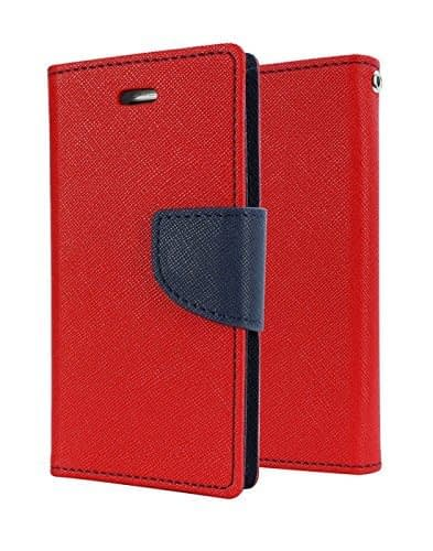 J.N. Mercury Fancy Diary Card Wallet Flip Cover For Xiaomi Redmi 2s - Red 1
