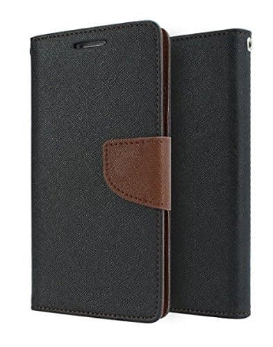 J.N. Mercury Fancy Diary Wallet Flip Case Back Cover for Apple iPhone 6/6S - Black Brown 3