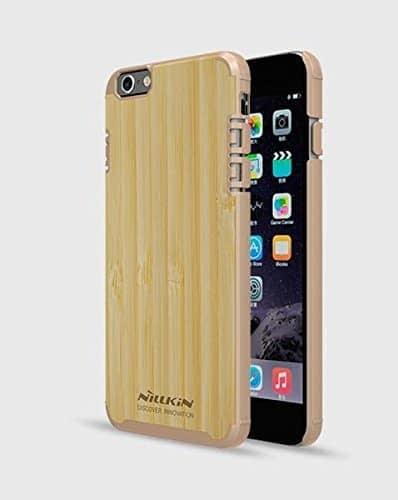 Nillkin Natural PC + Wood Bamboo Protective Back Case Cover for Apple Iphone 6 6S - Gold Sides 1