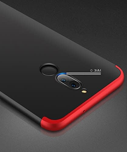 Royal Star Luxury Design Full Body 3-in-1 Slim Fit Complete 360 Degree Protection Hybrid Matte Finish Hard Bumper Back Cover Case for Huawei Honor 9i 3