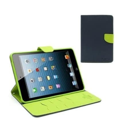 Royal Star Mercury Goospery Folding Flip Folio PU Leather with 4 card slot Stand Case Cover for Xiaomi MI Pad ( 7.9inch Display )- ( Blue + Green ) 1