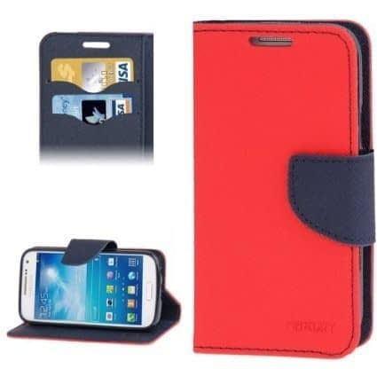 DW Mercury Fancy Diary CARD Wallet Flip Case Back Cover for Micromax Canvas HD A116 ( Red ) 4
