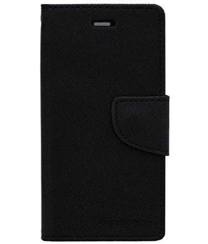 Mercury (For Motorola Moto E3 3rd Gen/Motorola Moto E3/Moto E3 Power) Luxury Diary Wallet Style Flip Cover Case for Moto E3 Power/Moto E3 (Black Color) 4
