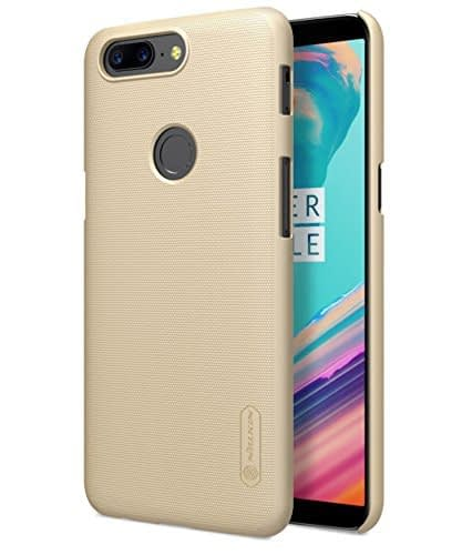 Nillkin Super Frosted Shield Hard Back Cover for Oneplus 5T(Gold) 1