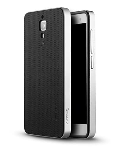 Original iPaky Brand Luxury High Quality Ultra-Thin Dotted Silicon Black Back + PC Silver Frame Bumper Back Case Cover For Xiaomi mi 4 - Black Silver 1