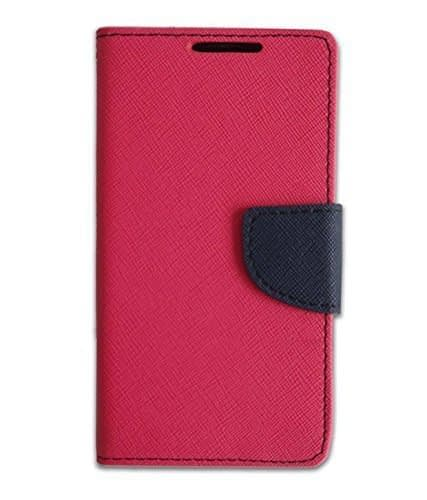 J.N. Mercury Fancy Diary Card Wallet Flip Case Back Cover For Sony Xperia C4- Pink 1