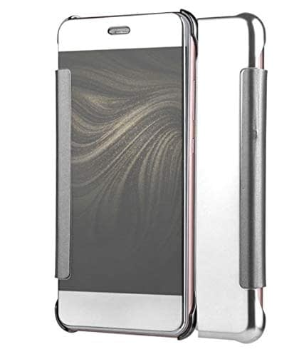 Royal Star Luxury Clear View Mirror Flip Smart Cover Case for (Samsung Galaxy J2 (6) 2016 Model, Silver) 1