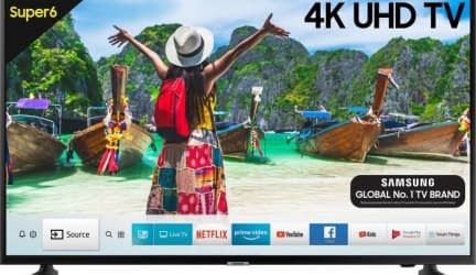 Samsung Super 6 108cm (43 inch) Ultra HD (4K) LED Smart TV Samsung