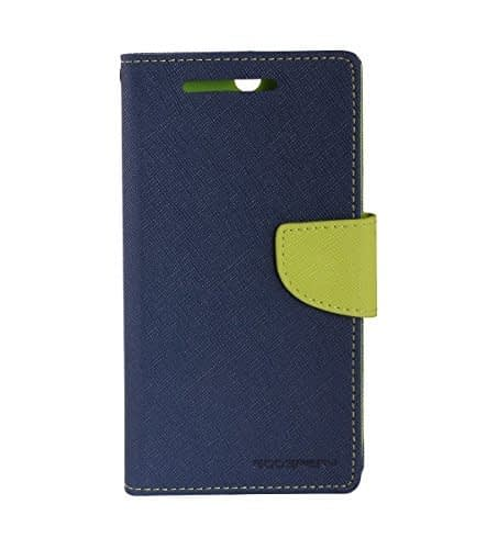 Mercury Goospery Fancy Dairy Case /Flip Cover Made For HTC Desire 616-Royal Blue/Blue 1