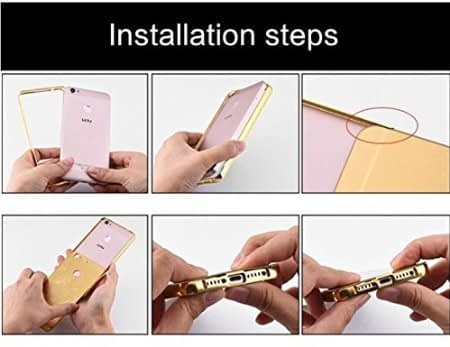 Royal Star Luxury Metal Bumper + Acrylic Mirror Back Cover Case For LeEco LeTv Le 2 / Le 2 Pro (5.5 inch Display ) (Gold Mirror) 8