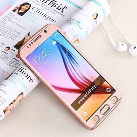 Royal Star(TM) 360 DEGREE FULL BODY PROTECTION Front + Back Cover Case with Tempered Glass For SAMSUNG GALAXY A7 2016 Edition ( Rose Gold ) 1