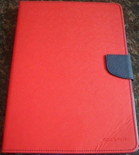 DW Mercury GOOSPERY Fancy Diary CARD Wallet Flip Case Back Cover for APPLE iPad 5 / iPad Air - Red 1