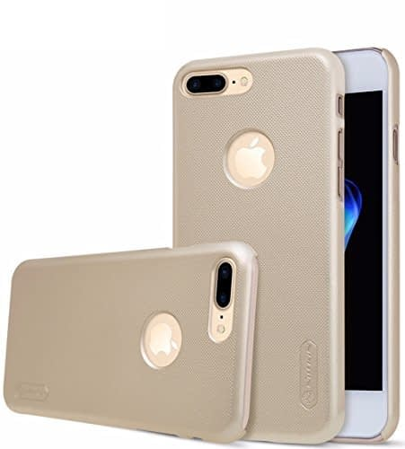 "Nillkin Frosted Shield Hard Back Case Cover With Screenguard for Apple iPhone 7 Plus [5.5""] - Gold 1"